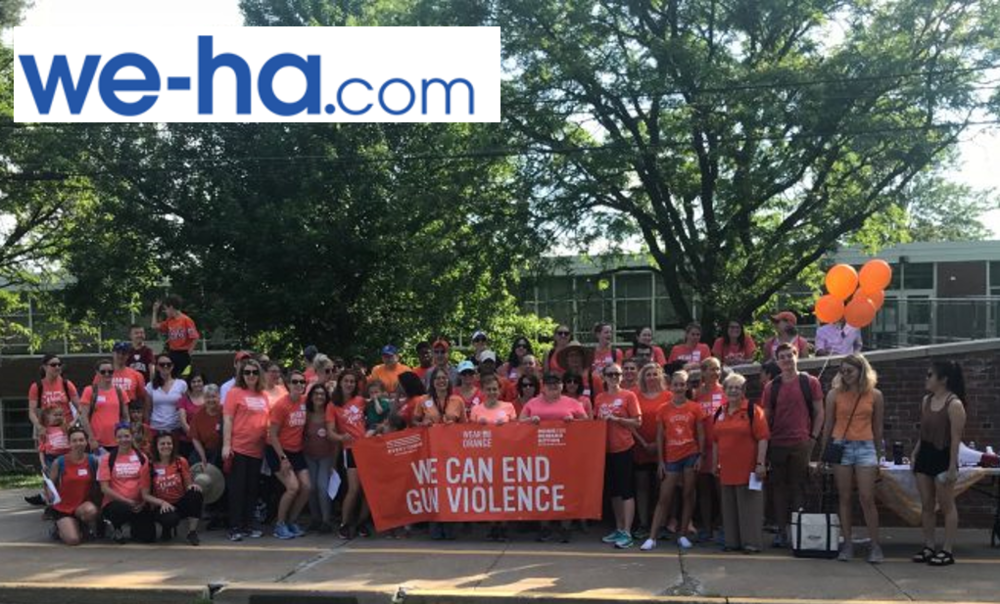 Moms Demand Action Candidate Kavros DeGraw Joins Gun Violence Prevention Walk with Rep. Slap -