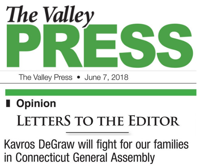 Letter to the Editor: Kavros DeGraw Will Fight for Our Families -