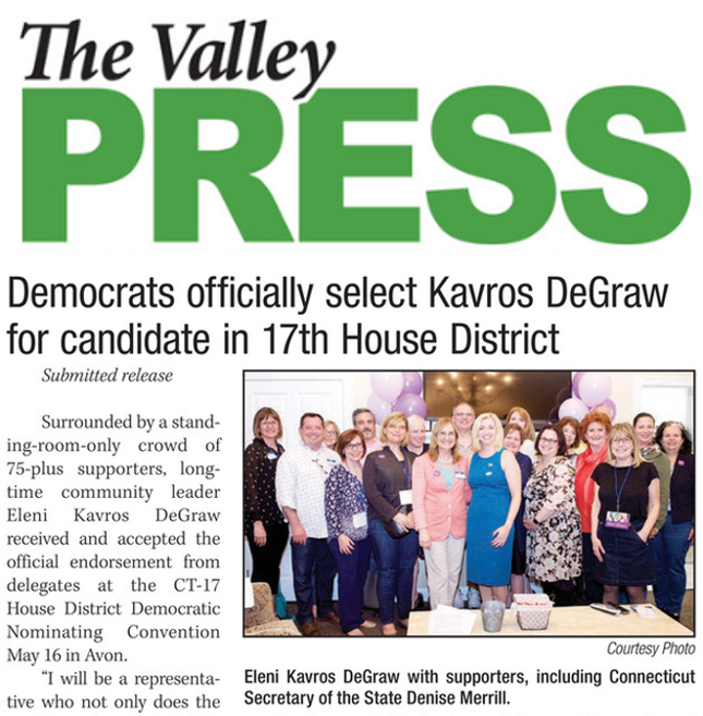 Democrats Officially Select Kavros DeGraw for Candidate for 17th House District -