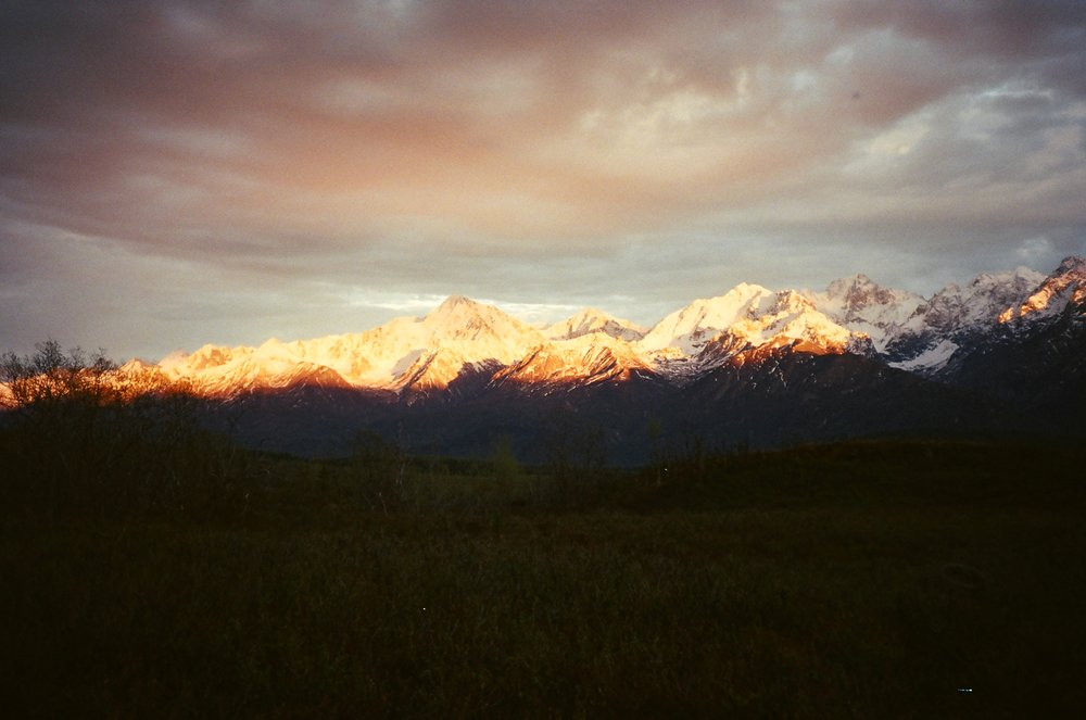 Dusk Light on the Chugach Mountains