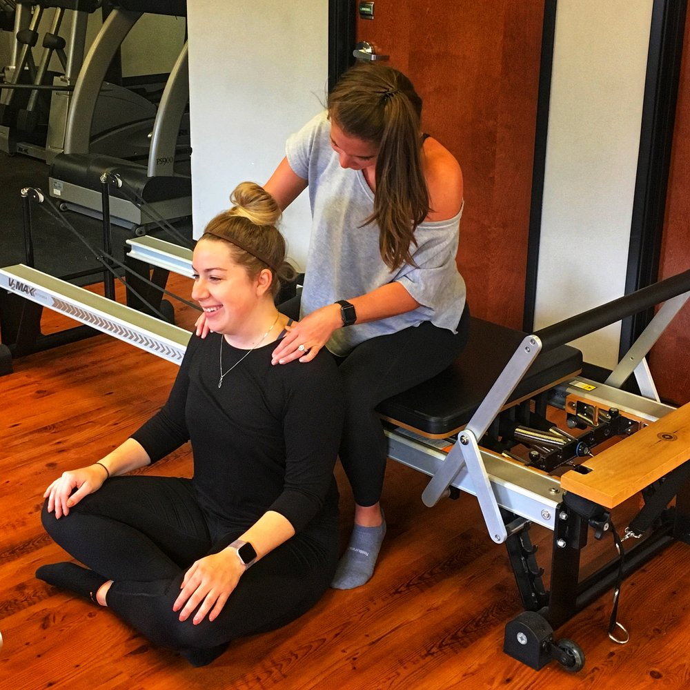 Leah's favorite part of her workout! The mini massage at the end!