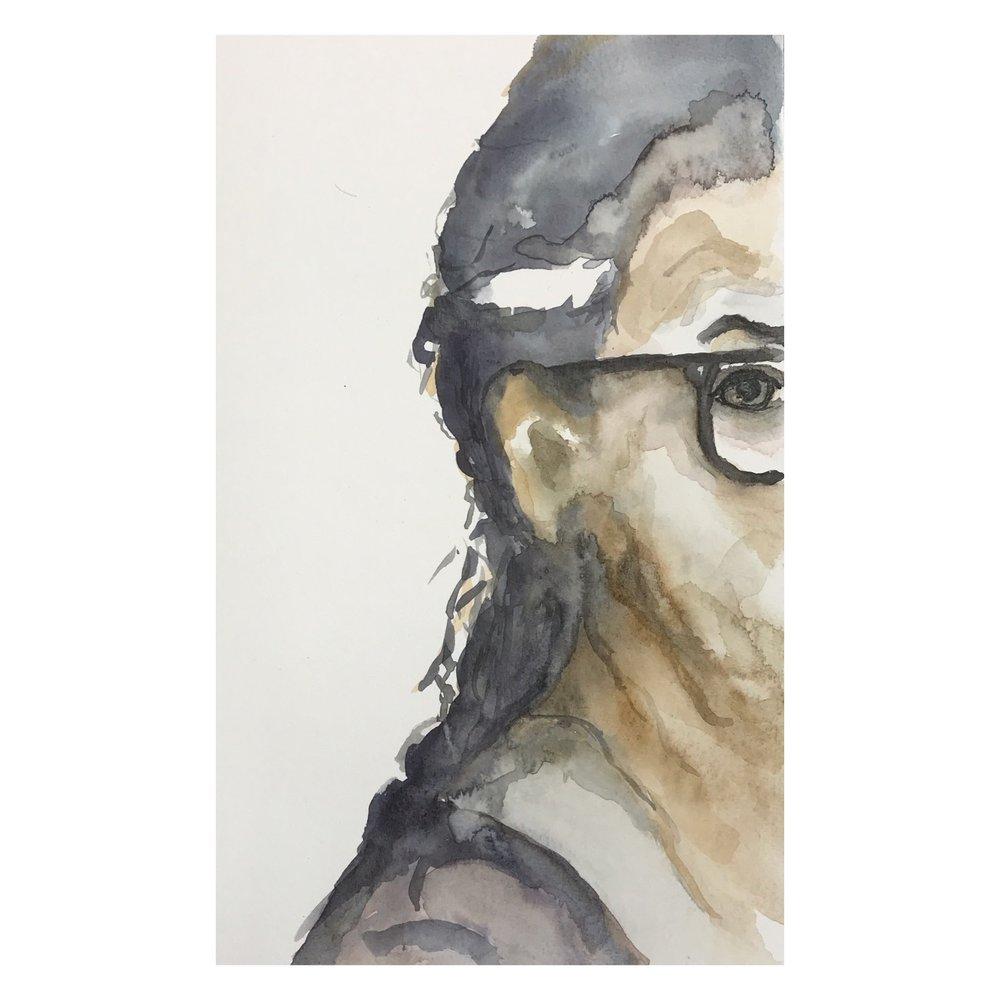 Själv, akvarell 21x30  Ta gärna kontakt om intresse finns för mina målningar och följ mig gärna på sociala medier!  Reg. för F-skatt  Facebook:  madebycath   Instagram:  madebycath