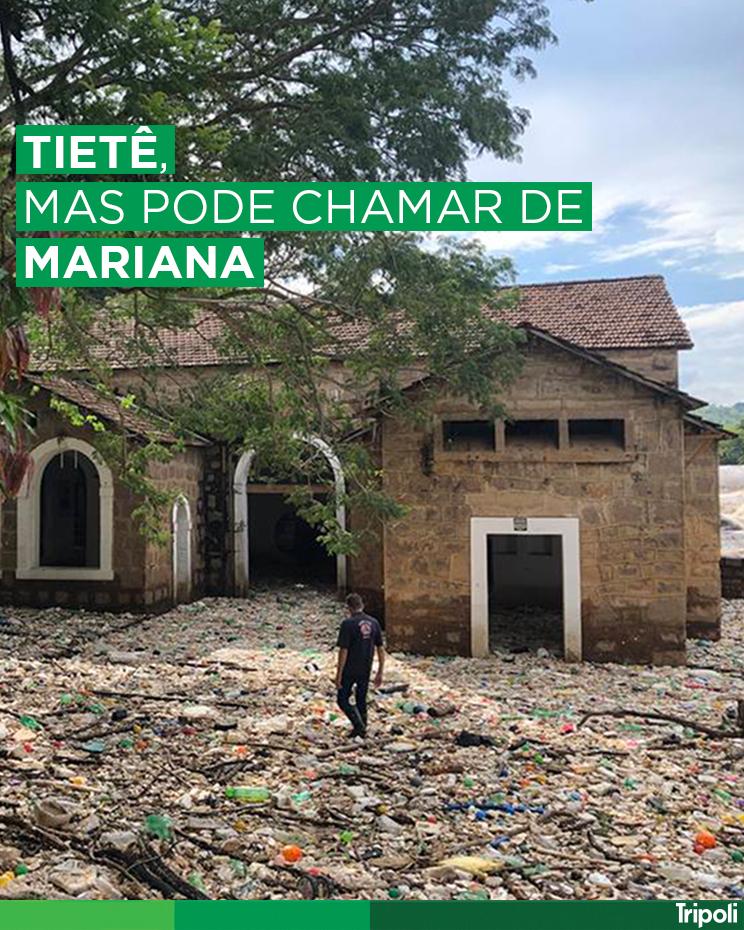Foram retiradas 17,6 toneladas de lixo das ruas e pontos turísticos de Salto, após a enchente do Rio Tietê.  Essa poluição vem principalmente da Região Metropolitana de São Paulo.  Fonte: Estadão e G1