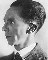 Josef Goebbels - the big daddy of Bullshitters. Note the classic criminal liars' profile: the elongated head, the weak chin and strange angle of the ears...etc etc. -
