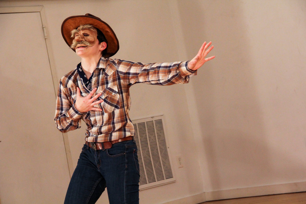 Quick Dick from  The Legend of Quick Dick McGripp . Devised at Pig Iron Devised Performance Program. Fall 2016. Photo courtesy of Lindsay Browning.
