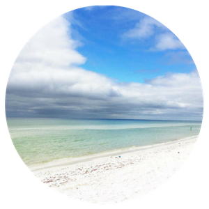 My favorite indulgence are  beach vacations  in Seaside, Florida with the kids, or Caribbean island getaways when the kids stay home.