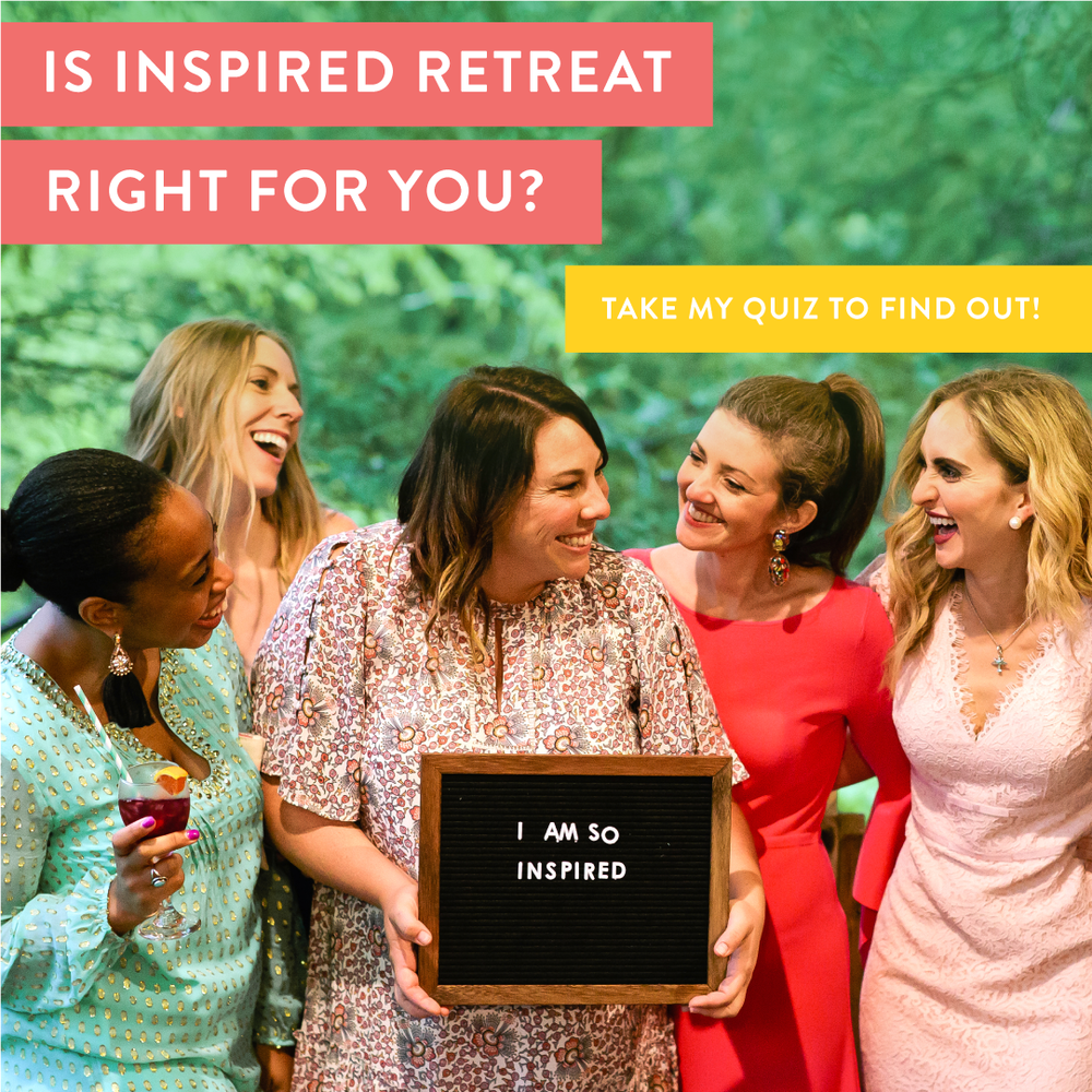 Inspired Retreat conference experience for creatives and wedding professionals. Take the quiz to find out if it's right for you and your business!