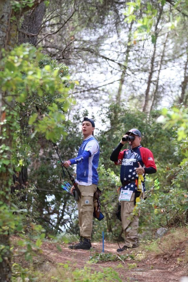 Alessio Noceti and I shooting on the first day of the 2017 World Championships in Robion France.