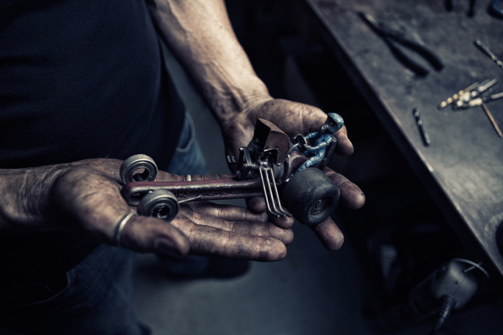 Buck the Cubicle is an ongoing series featuring people who aren't afraid to get out, get dirty and find inspiration in all manner of offbeat occupations. The first subject in the series is Derek McDonald, a metal sculptor and welder.