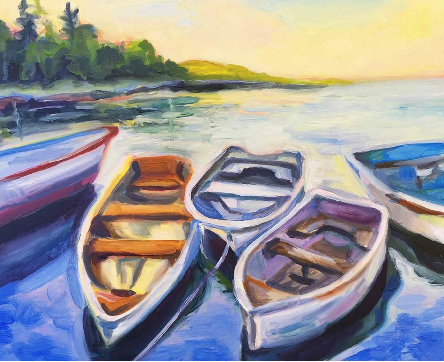 Boats in the Harbor | Abigail Gray Swartz