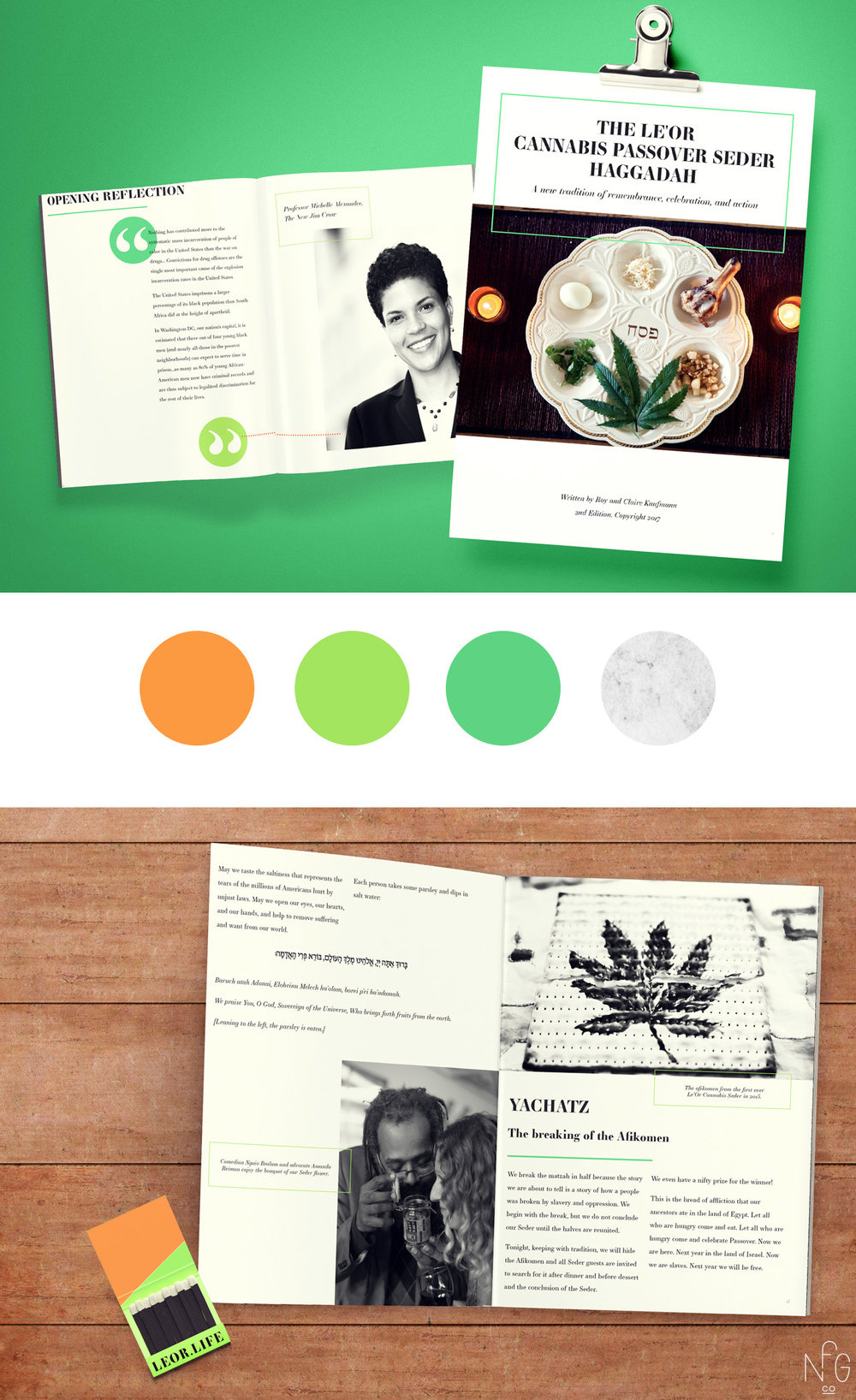 Le'Or Cannabis Seder Design | No Fonts Given Co