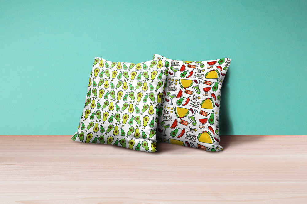 Avocado and Taco Tuesday Patterns by No Fonts Given Co | Lindsay Goldner