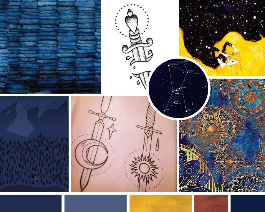 Collecting the Constellations Moodboard | No Fonts Given Co