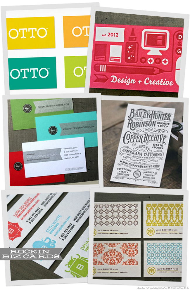 business card roundup by linz loves you