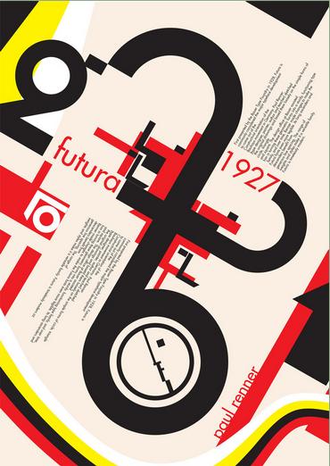 Futura Paul Renner 1927 by ~max-n0d3 via 8faces