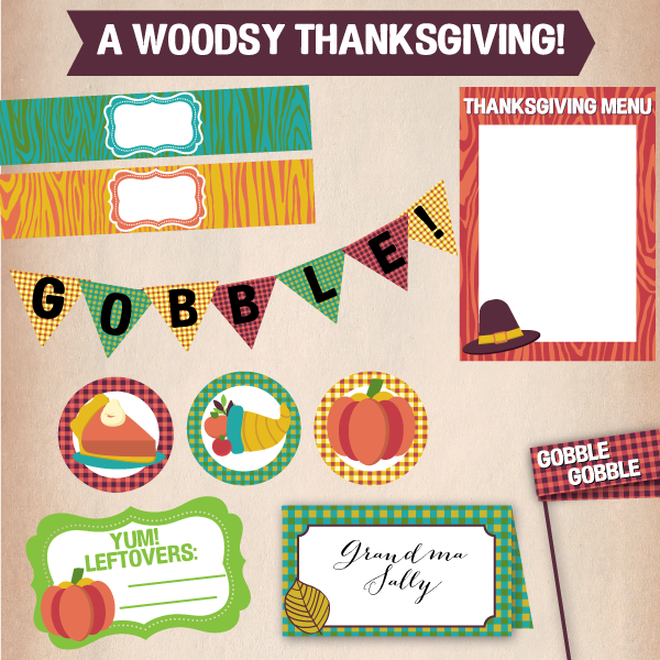 llydesigns woodsy thanksgiving printables