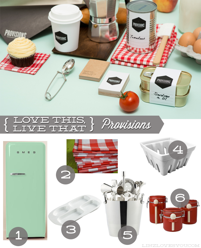 love this live that- provisions branding via linzlovesyou.com