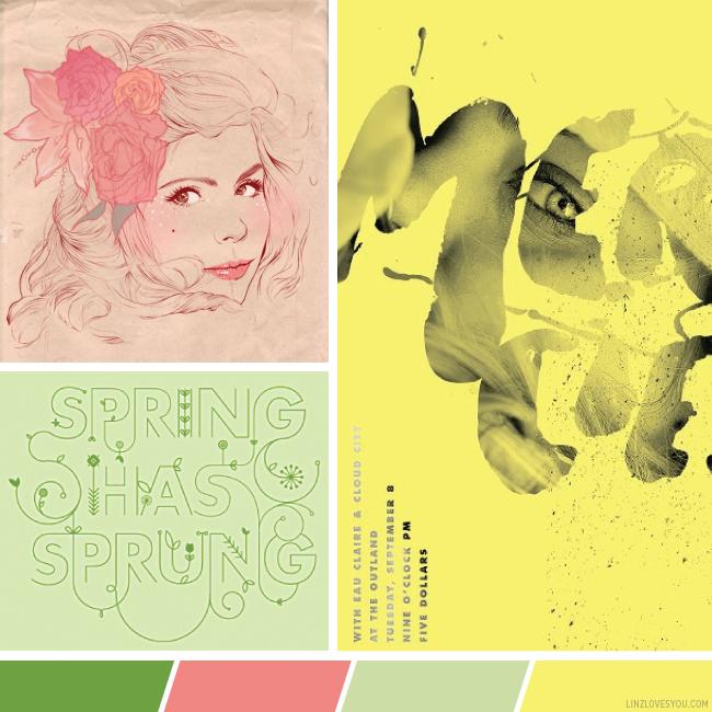 spring has sprung color palette via linzlovesyou
