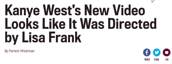slate kanye west new video lisa frank
