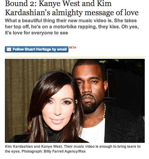 the guardian kim and kanye message of love