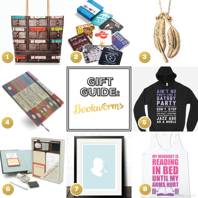 Gifts for Bookworms via Linz Loves You