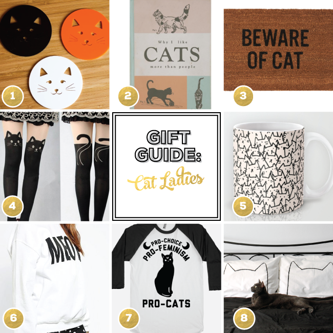 Gift Guide for Cat Ladies from Linz Loves You