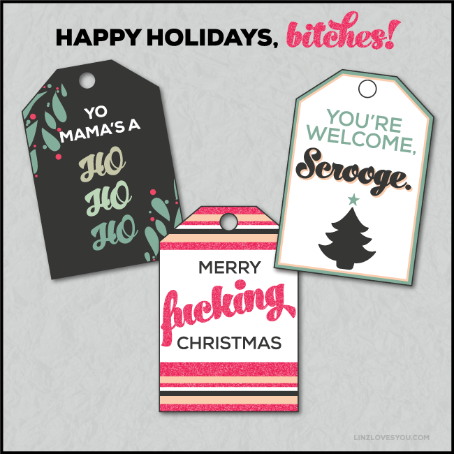 Naughty Christmas Tags from Linz Loves You