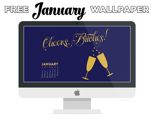 January Desktop Wallpaper via Linz Loves You