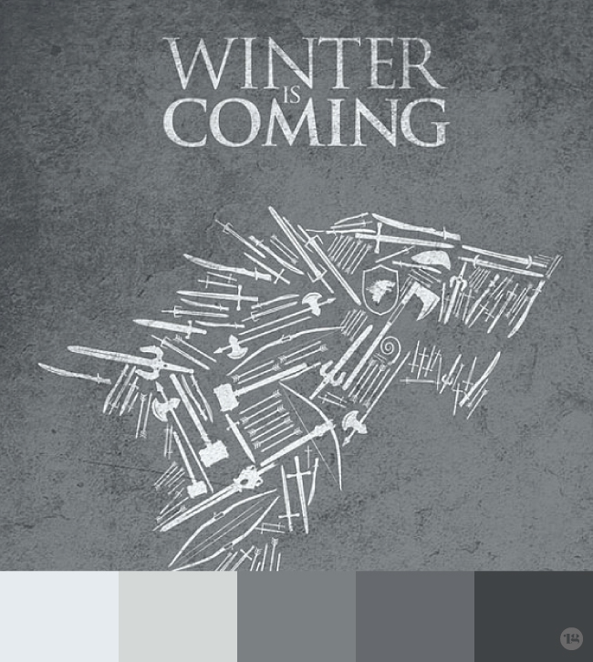Game of Thrones Palette by Lindsay Goldner