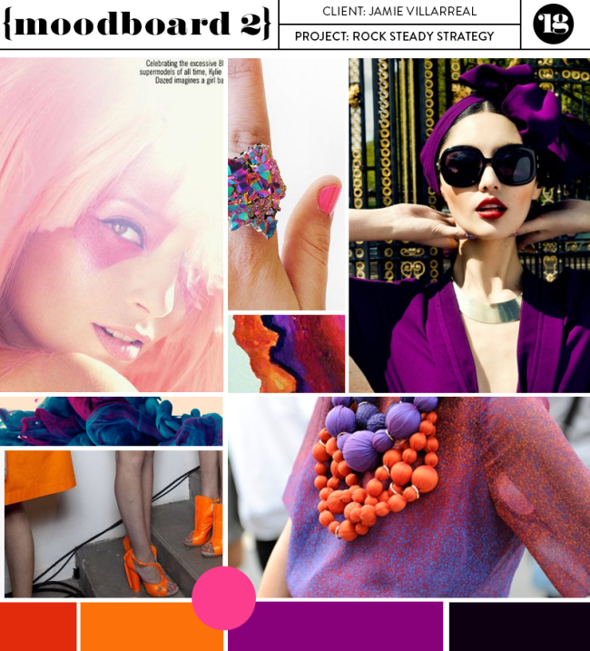 Rock Steady Strategy moodboard by Lindsay Goldner Creative