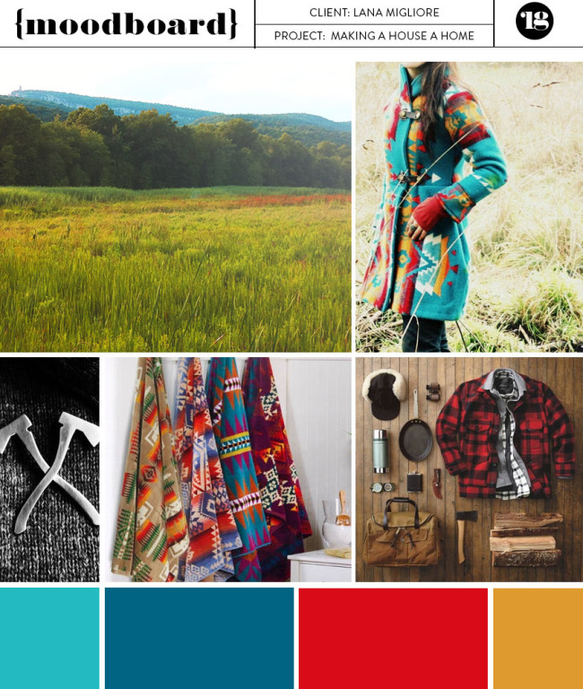 Making a House a Home moodboard by Lindsay Goldner Creative