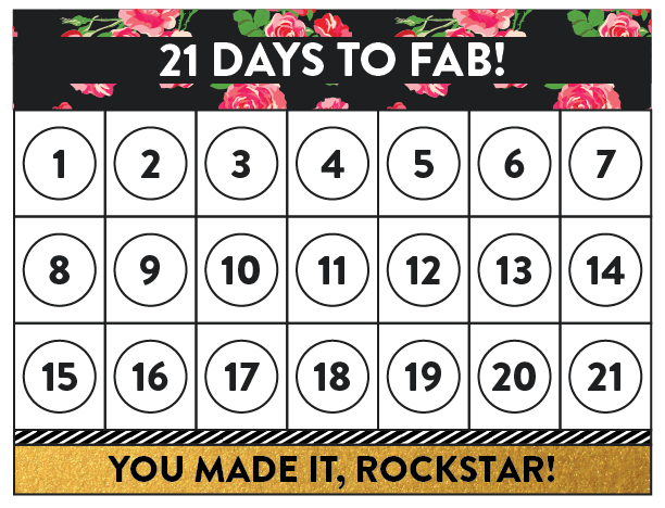 21 Days to Fab  | Lindsay Goldner Creative