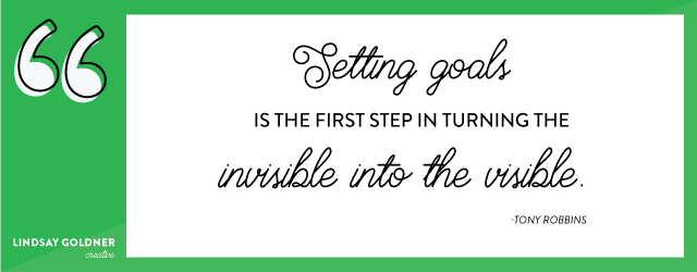 Setting Goals  |  image by Lindsay Goldner