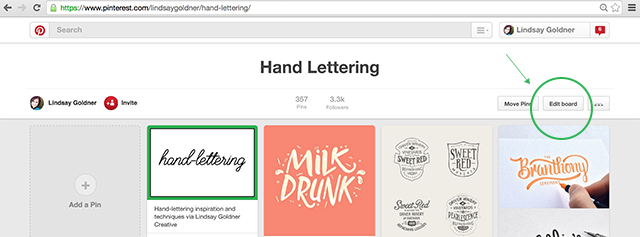 Customize Your Pinterest Covers via Lindsay Goldner Creative