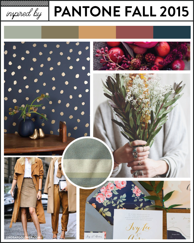 Inspired by Pantone Fall 2015 Moodboard – via Lindsay Goldner Creative