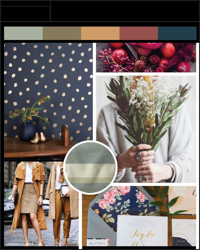 Inspired by Pantone Fall 2015 Moodboard – via Lindsay Goldner Creative