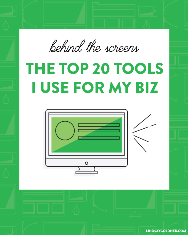 The top 20 tools I use as a solopreneur - Lindsay Goldner Creative