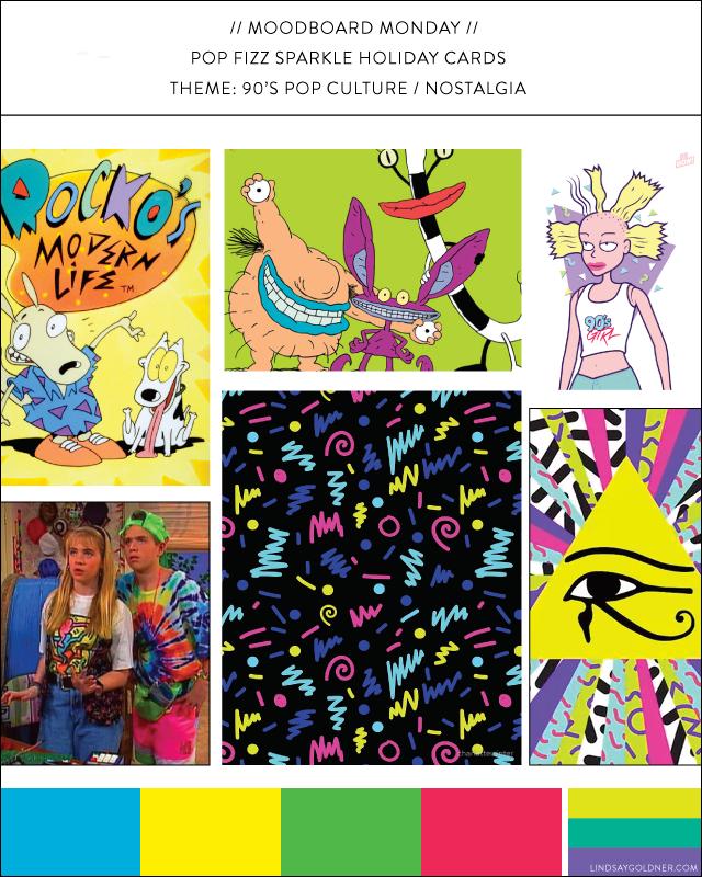 Moodboard Monday: 90's Pop Culture Nostalgia   Lindsay Goldner Creative