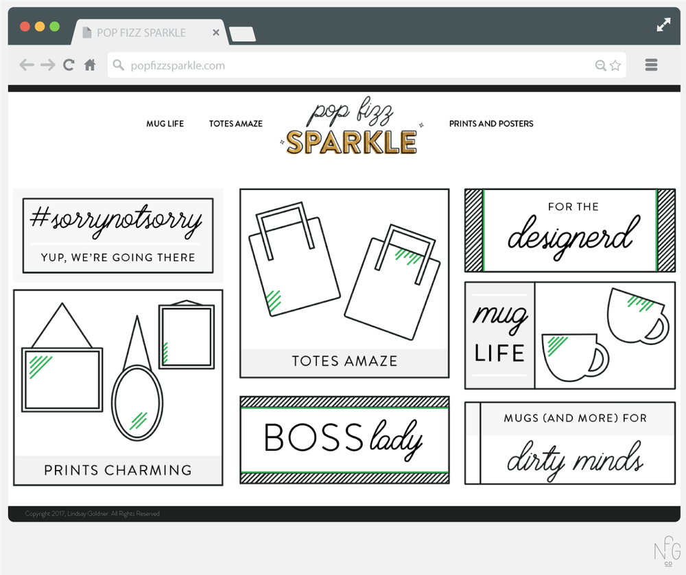 Pop Fizz Sparkle Website Design | No Fonts Given Co