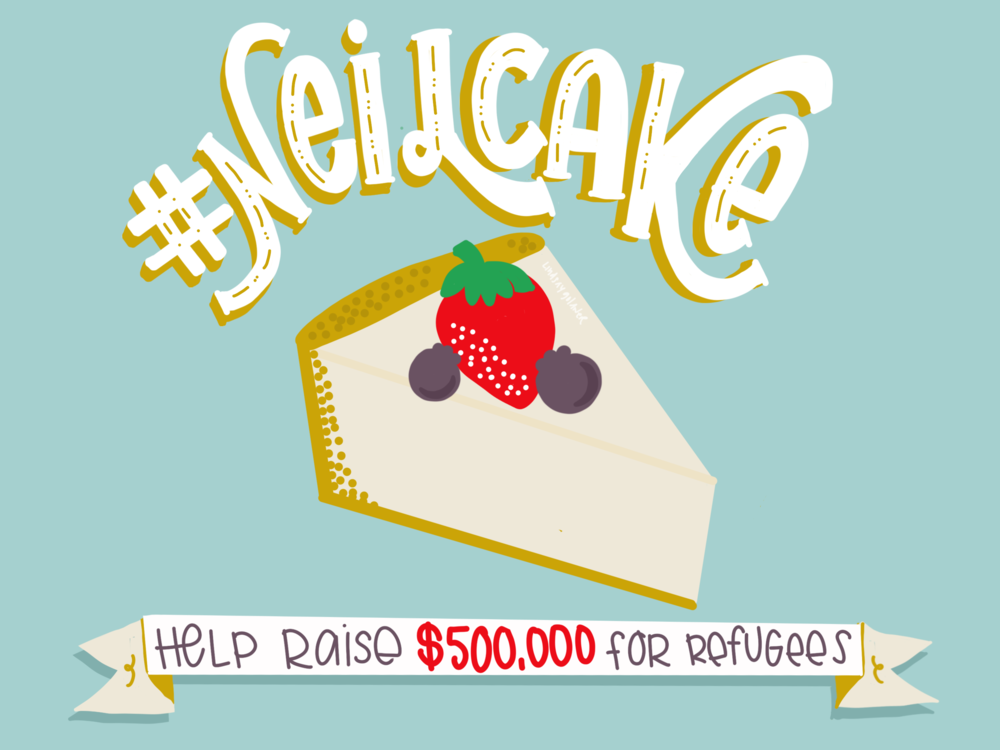 Neil Cake Fundraiser | No Fonts Given Co