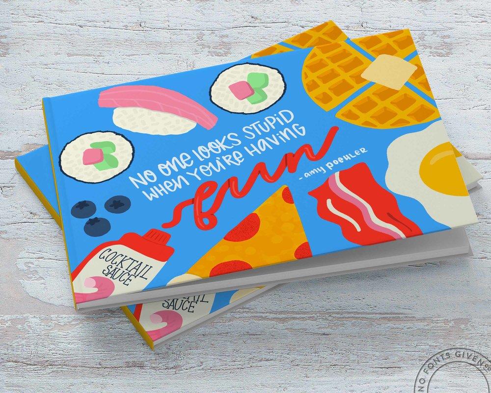 Children's Cookbook Cover Illustration   No Fonts Given Co