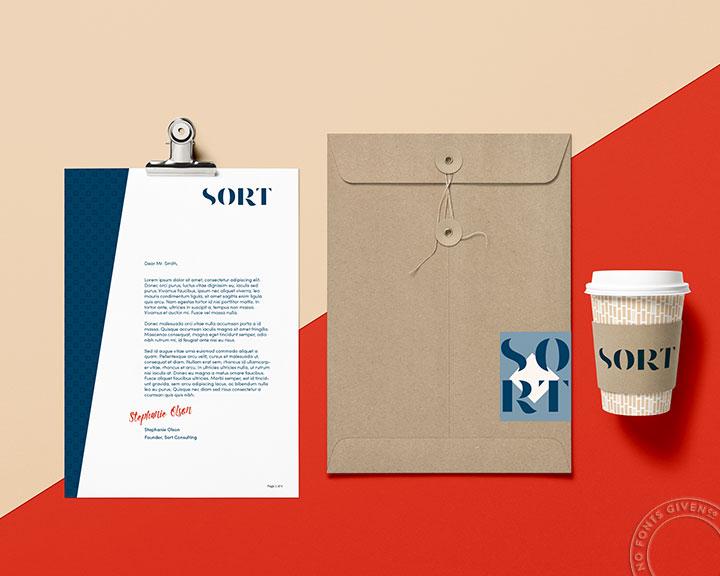 Sort Branding Flatlay   No Fonts Given Co