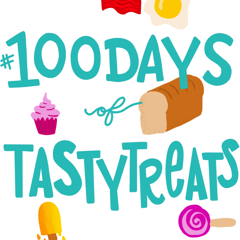 #100daysoftastytreats illustration + lettering | No Fonts Given Co