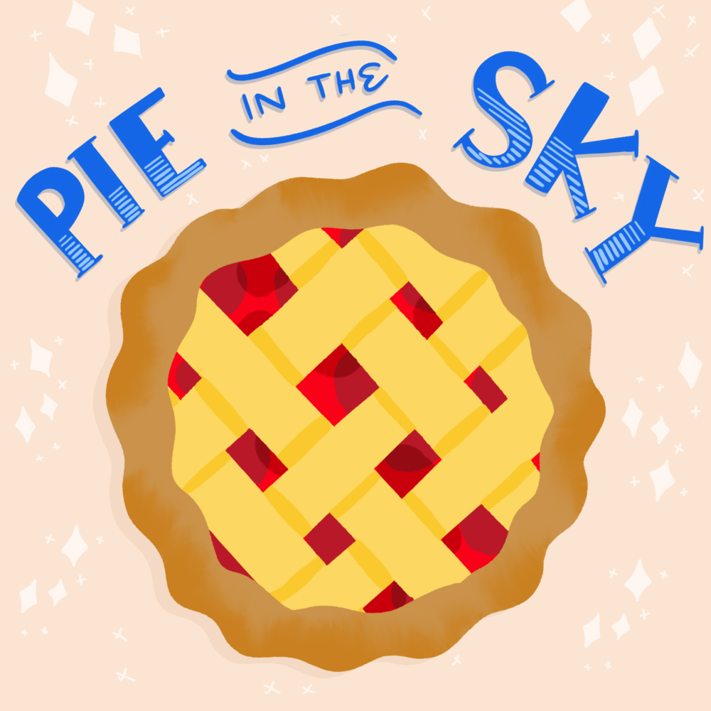 Pie in the Sky #100daysoftastytreats by Lindsay Goldner | No Fonts Given Co