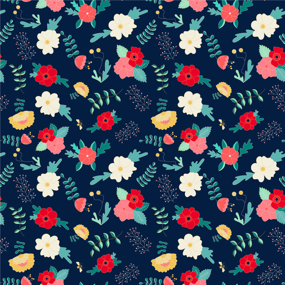 Bloom Floral Pattern by Lindsay Goldner | No Fonts Given Co