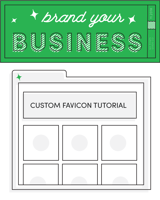 Custom Favicon Tutorial | No Fonts Given Co