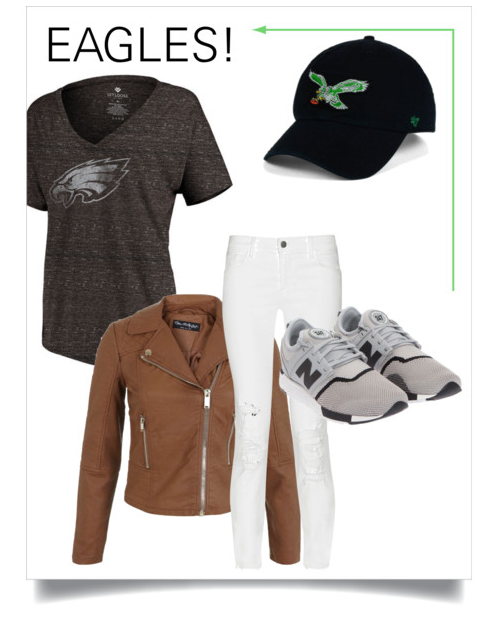 tee shirt ,  jeans  (premium brand on markdown),  hat ,  jacket  (similar)
