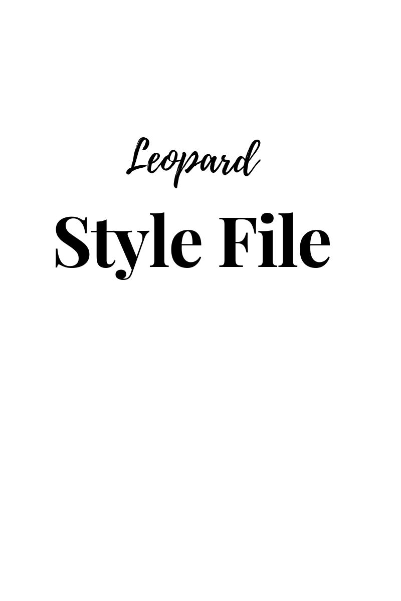 how to wear leopard