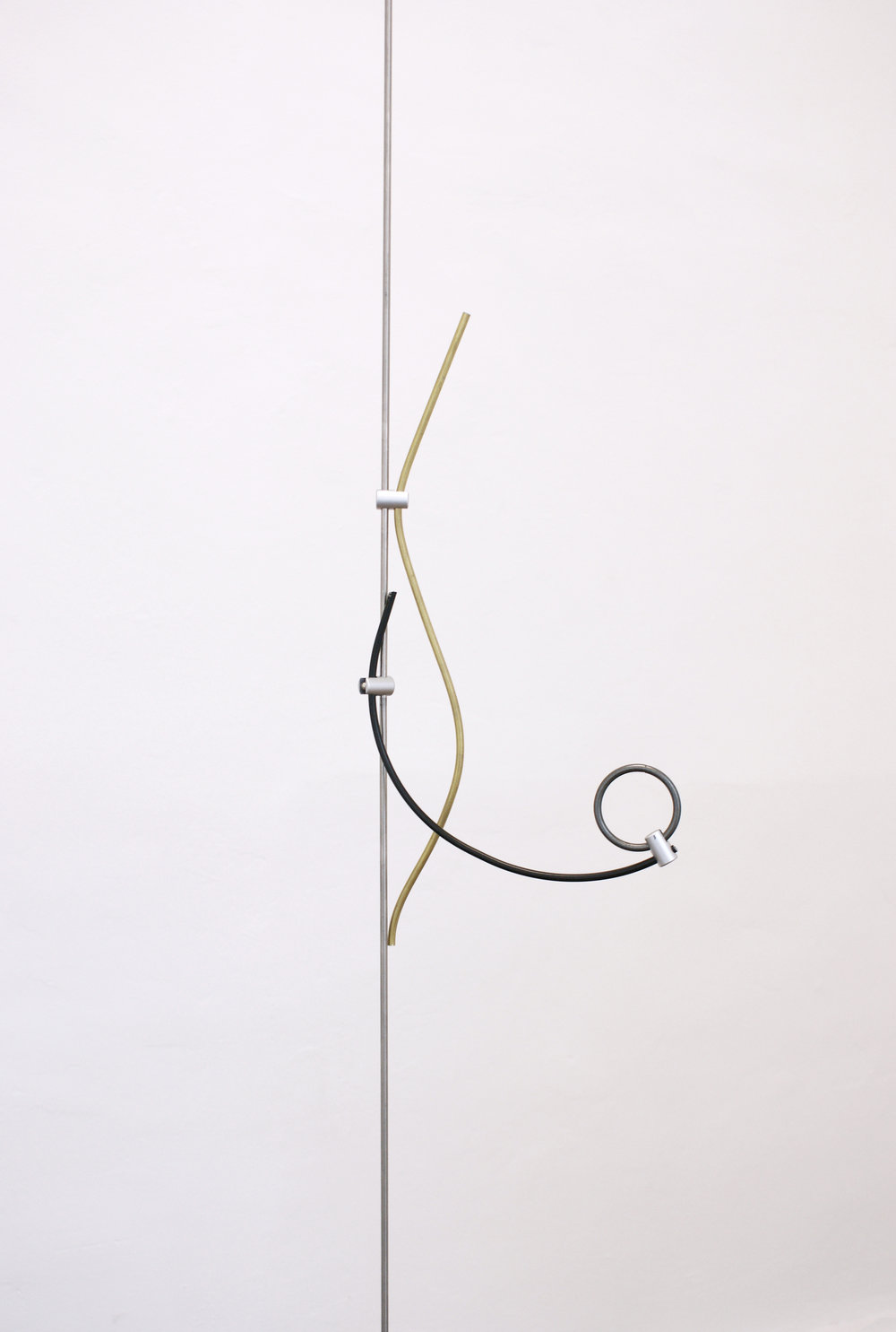 Upright,  rod display system, brass, tea light holder parts, curtain hoop