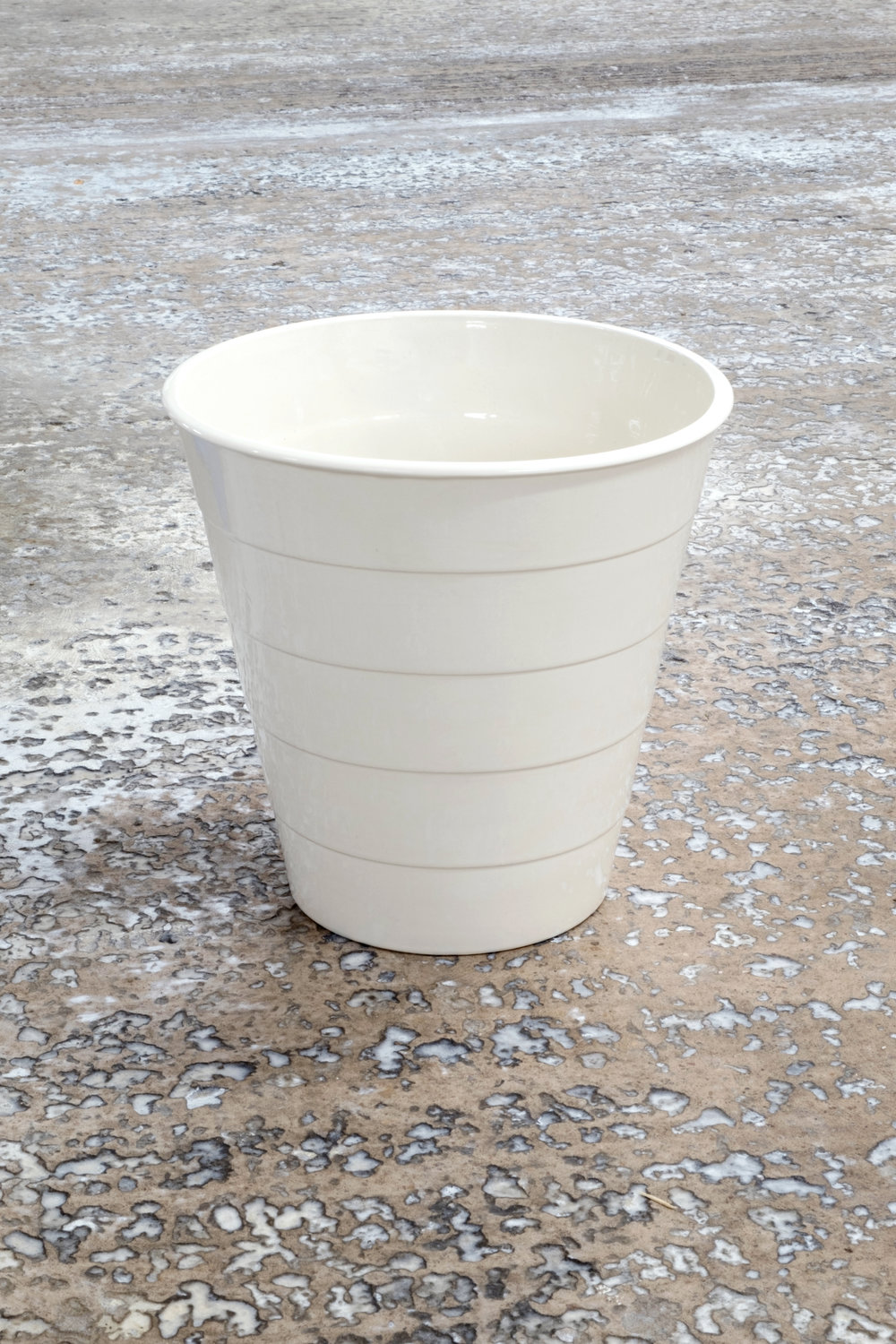 Giggle , ceramic slip cast replica of an IKEA FNISS bin